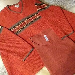 Eddie Bauer wool sweater sz xl perfect bundle